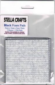 5mmx5mmx2mm Thick Black Foam Pads x 1200 Pads - SC114